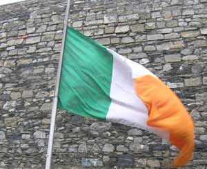 Irish flag at kilmainham gaol